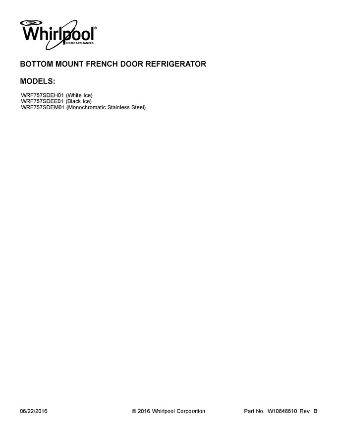 Diagram for WRF757SDEM01